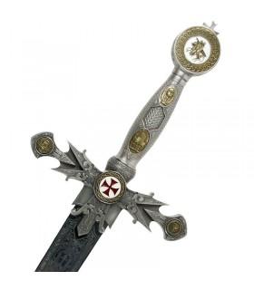 Épée des Templiers décorée