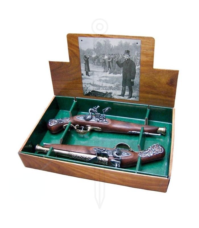 2 septembre pistolets anglais deuil, dix-huitième siècle