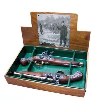 Essemble de 2 pistolets anglais de duel, XVIIIème siècle