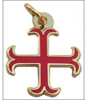 Pendentif Croix des Templiers ancrée