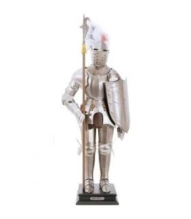 armures médiévales, 54 cms.