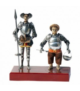 Figure Don Quichotte et Sancho Panza, 24 cms.