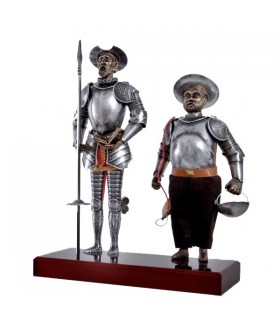 Figure Don Quichotte et Sancho Panza, 42 cms.