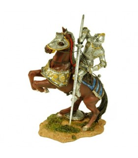 Figure peinte chevalier médiéval