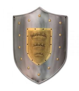 bouclier Gravé avec couronne