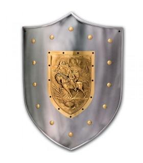 Guerrero bouclier médiéval