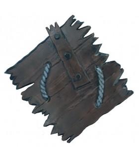 Bouclier latex Viking Orc, 80 cm.