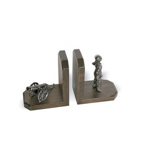 Bookends guerrier et le baril (28x16x9 cm.)