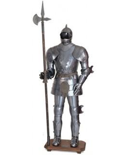Armure avec hallebarde XV siècle