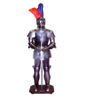 armures médiévales avec l'épée