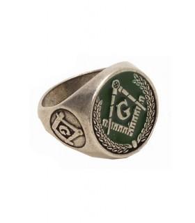 émail vert anneau maçonnique