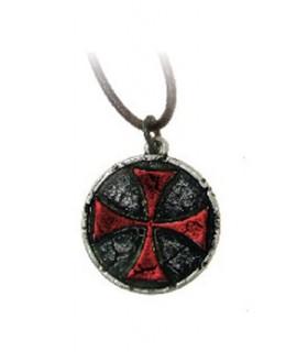 Rouge Croix Templière Pendentif (3,3 cm).