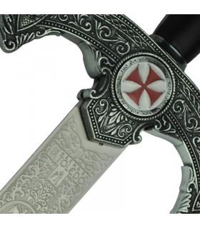 épée des Templiers rustique décoré