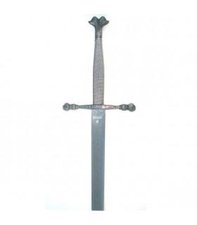 Épée Carlos V, feuille rustique enregistrée