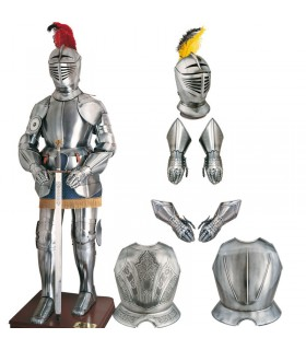 Armure pectoral gravé
