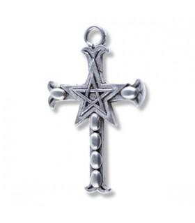 Pendentif croix pentacle
