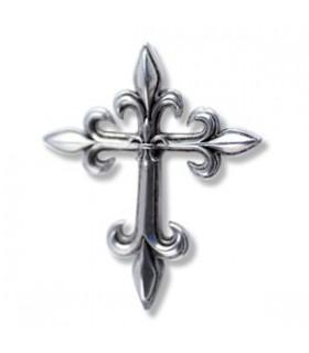 Lys Croix Fleur Pendentif