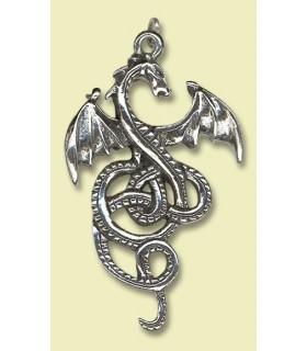 Pendentif celtique de dragon Nidhogg