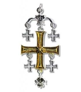 Pendant Templar Croix de Jérusalem