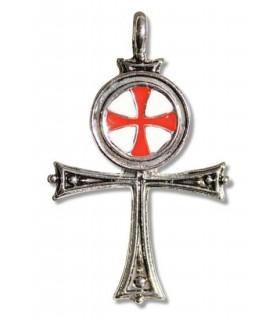 Égyptienne Croix Templière Pendentif