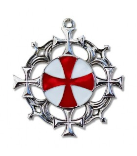Solaire Croix des Templiers Pendentif