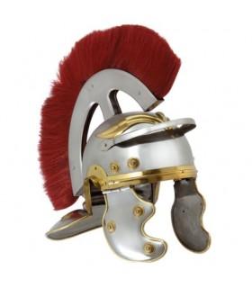 casque centurion romain avec panache devant