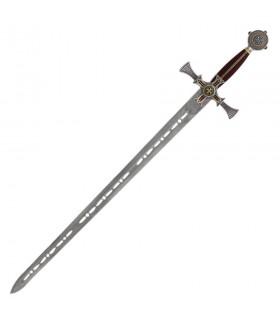 Templar épée damasquinée