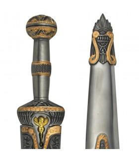 Daga Achille avec gaine métallique