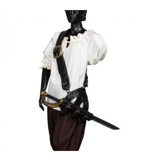 Pirate cartouchière en cuir