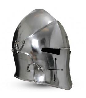 Barbuta médiévale avec visière