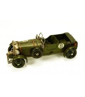 Vieille voiture de course miniature
