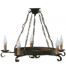 Forger la chaîne de la lampe, à 5 bras