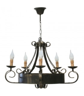 forger lampe 5 branches