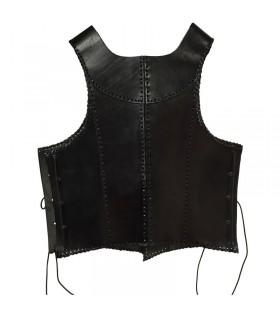 cuir noir armure médiévale