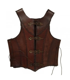 cuir marron armure médiévale