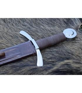 Crusader épée avec fourreau, fonctionnelle