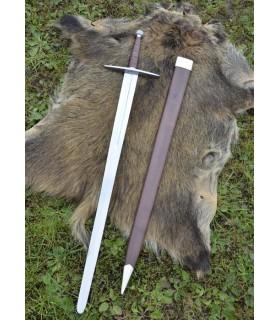 longue épée médiévale avec fourreau, fonctionnel
