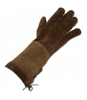 gants bruns médiévaux