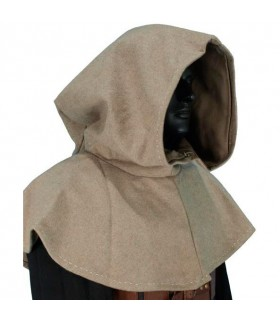 hotte médiévale laine beige