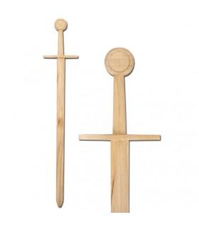 épée en bois médiévale