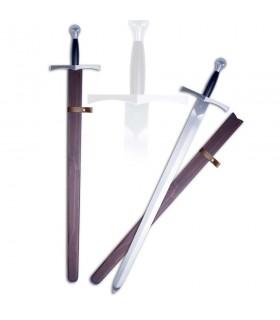 Epée médiévale fonctionnelle avec fourreau