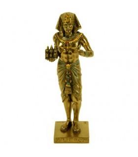 Egyptian figure pharaon avec triade