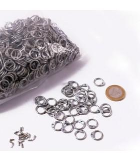 galvanisé sac en filet anneaux dimension, 9 mm.