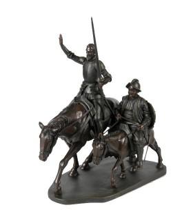 Quichotte et Sancho cheval miniature
