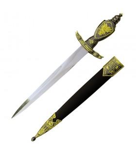 dague médiévale avec fourreau