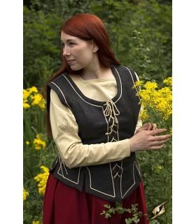 dentelle médiévale gilet femme