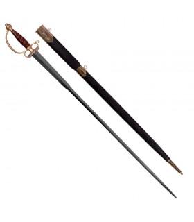 épée européenne avec fourreau, XVIII siècle