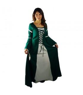 robe médiévale Bicolor femme