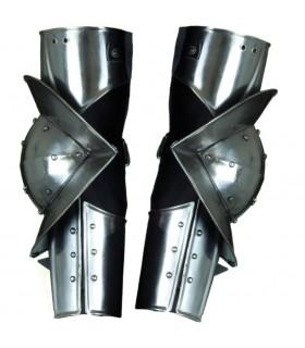 bras gothiques armure médiévale articulés