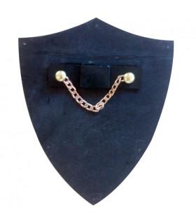 Mini-bouclier Prince Noir (11x14,5 cm Les.)